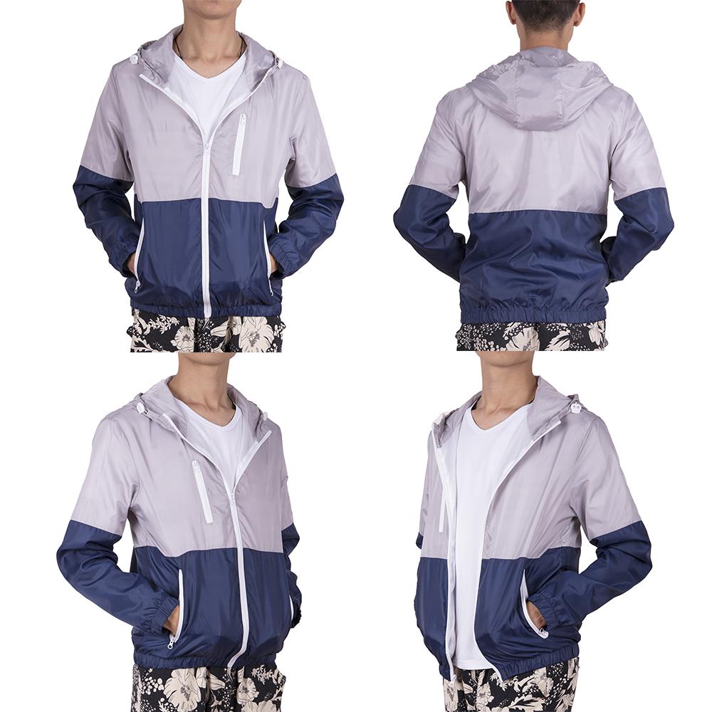 Men-039-s-Waterproof-Windbreaker-ZIPPER-Jacket-Hoodie-Light-Sports-Outwear-Coat-Gym thumbnail 16