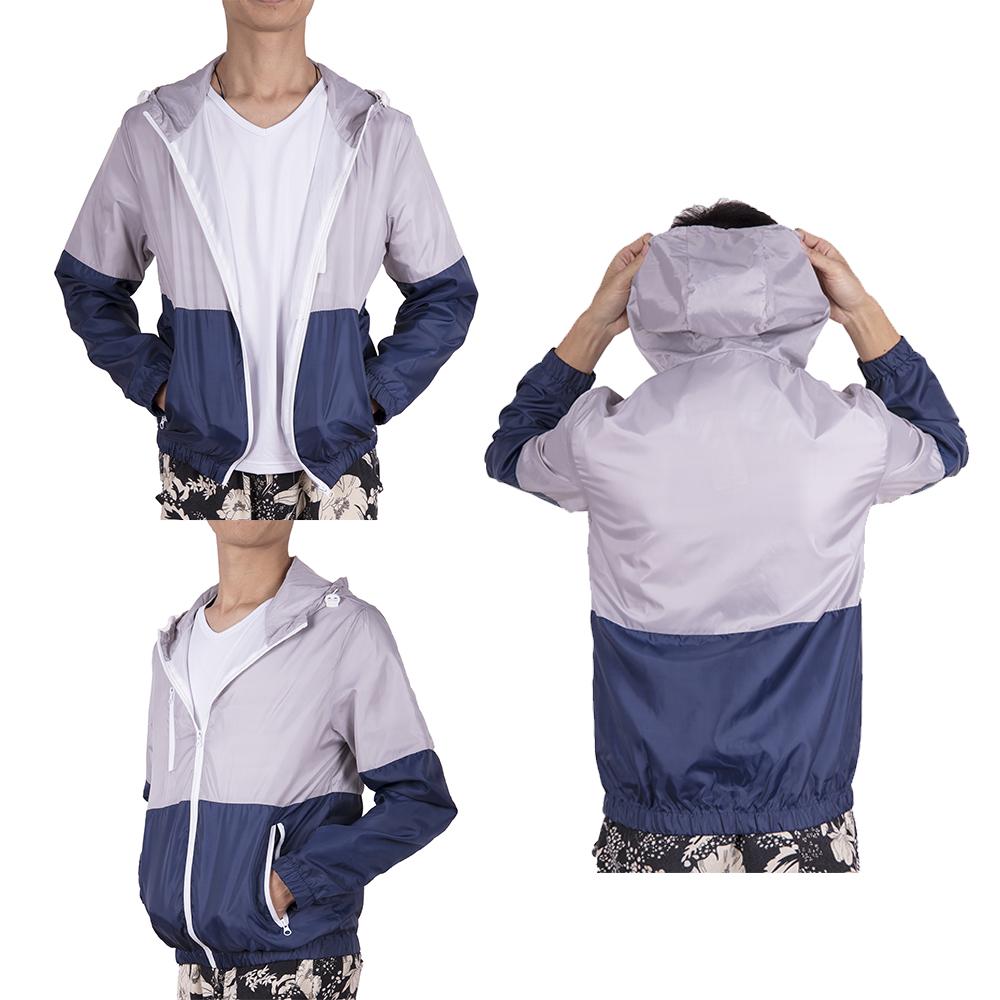 Men-039-s-Waterproof-Windbreaker-ZIPPER-Jacket-Hoodie-Light-Sports-Outwear-Coat-Gym thumbnail 17