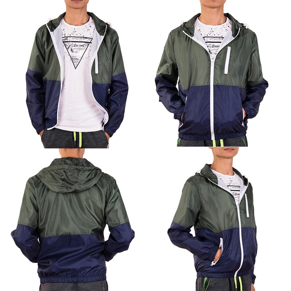 Men-039-s-Waterproof-Windbreaker-ZIPPER-Jacket-Hoodie-Light-Sports-Outwear-Coat-Gym thumbnail 20