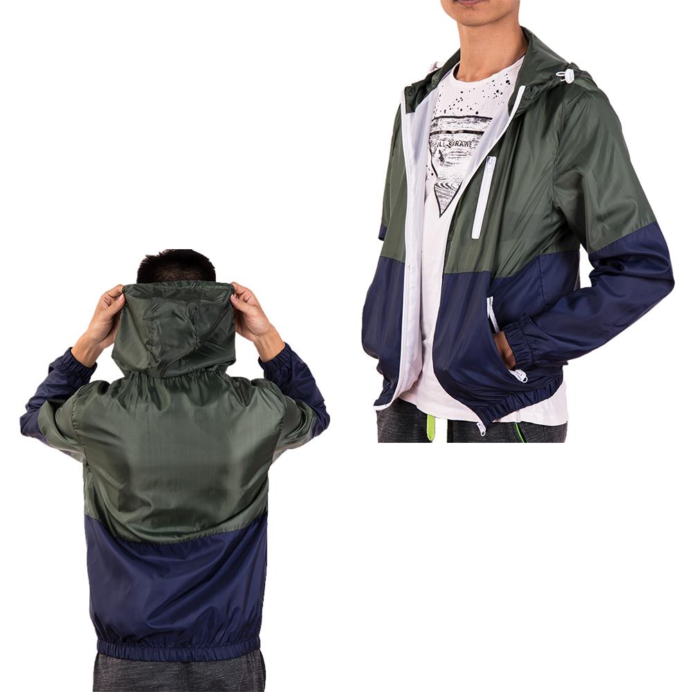 Men-039-s-Waterproof-Windbreaker-ZIPPER-Jacket-Hoodie-Light-Sports-Outwear-Coat-Gym thumbnail 21