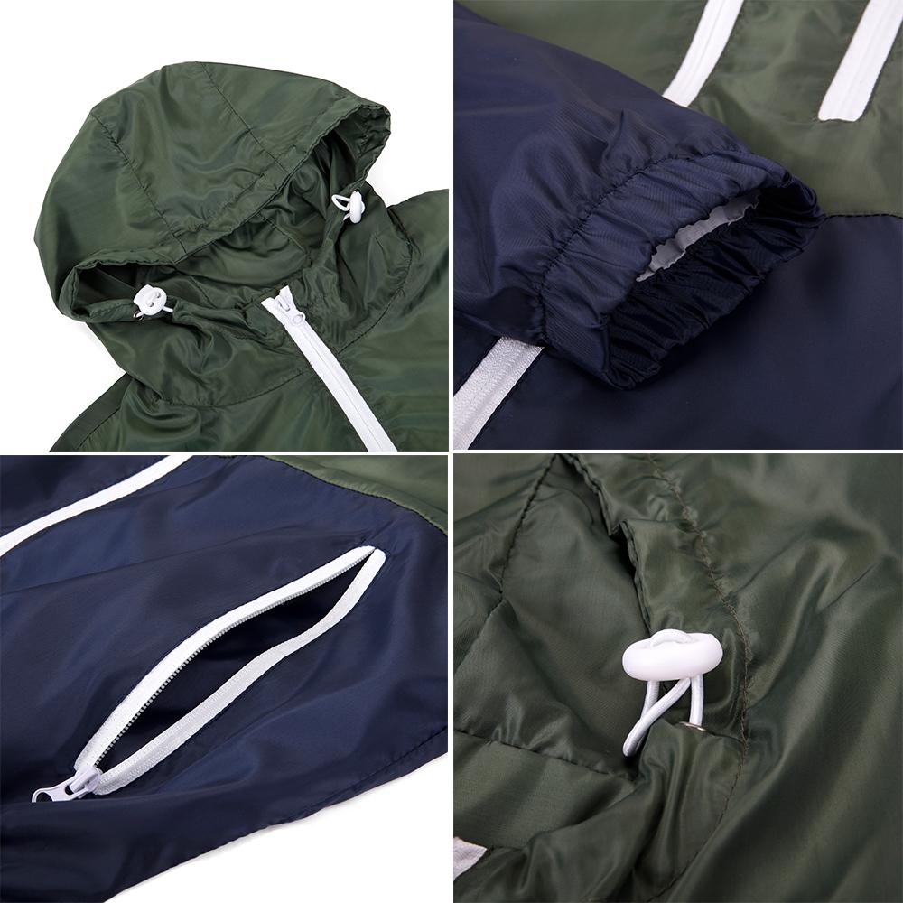 Men-039-s-Waterproof-Windbreaker-ZIPPER-Jacket-Hoodie-Light-Sports-Outwear-Coat-Gym thumbnail 22