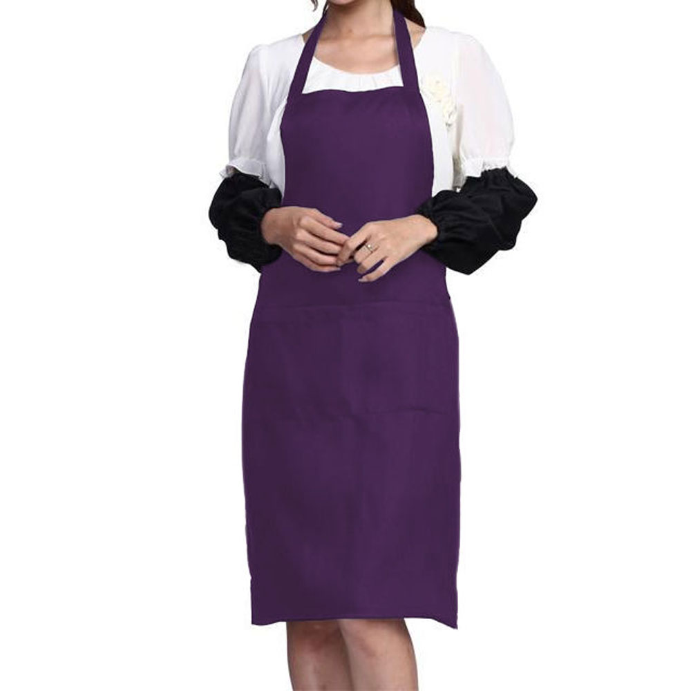 Women Kitchen: New Women Solid Cooking Kitchen Restaurant Bib Apron Dress