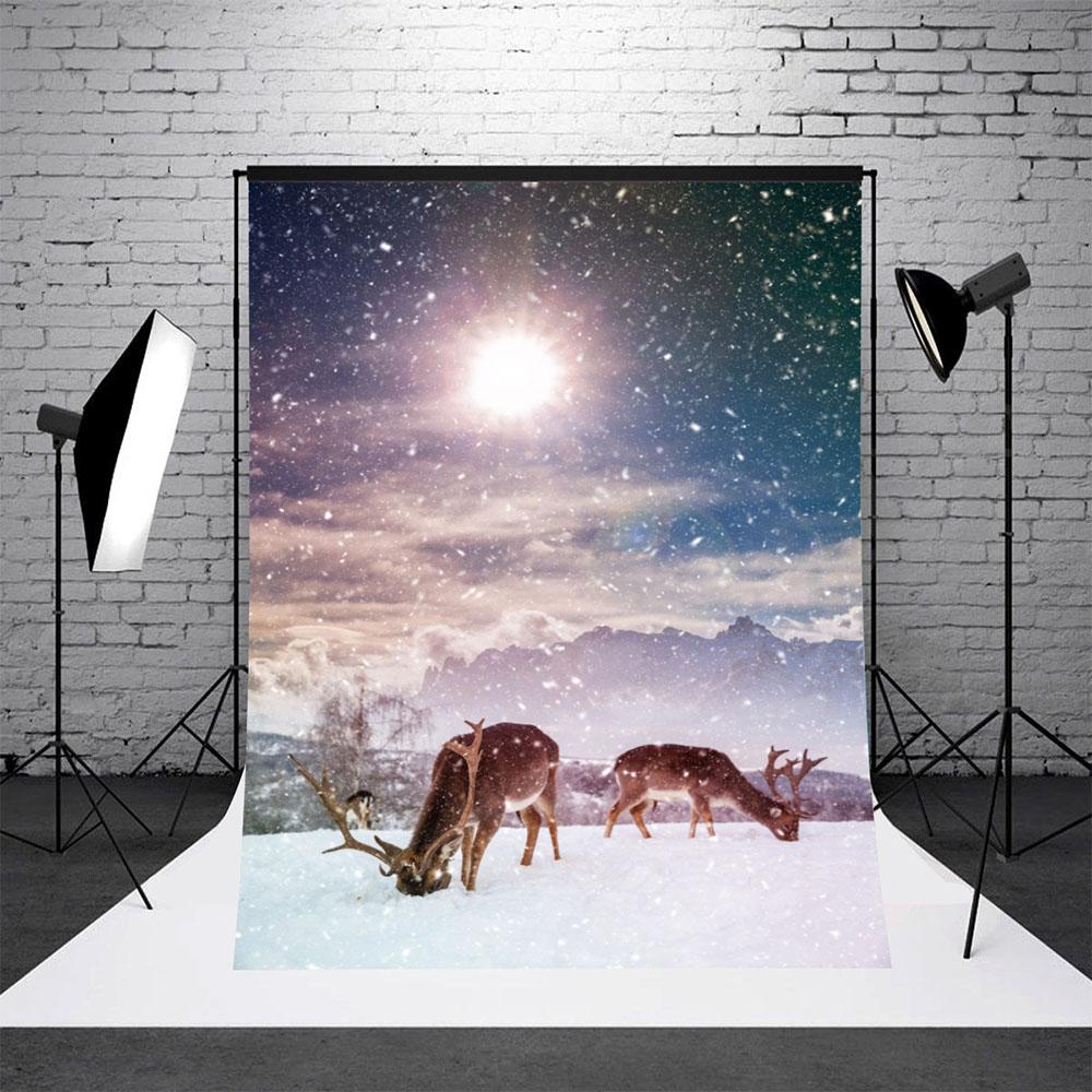 5x7ft Vinyl Studio Photography Backdrops Christmas