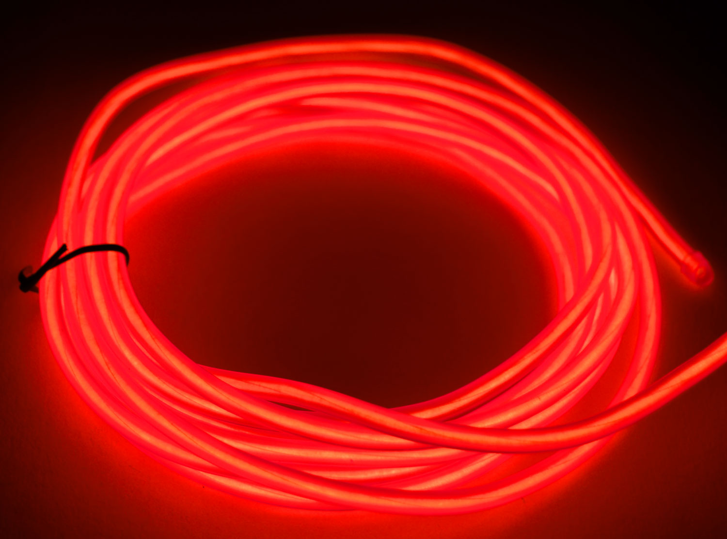 Glowcity ft battery powered mm light up el wire kit red ebay