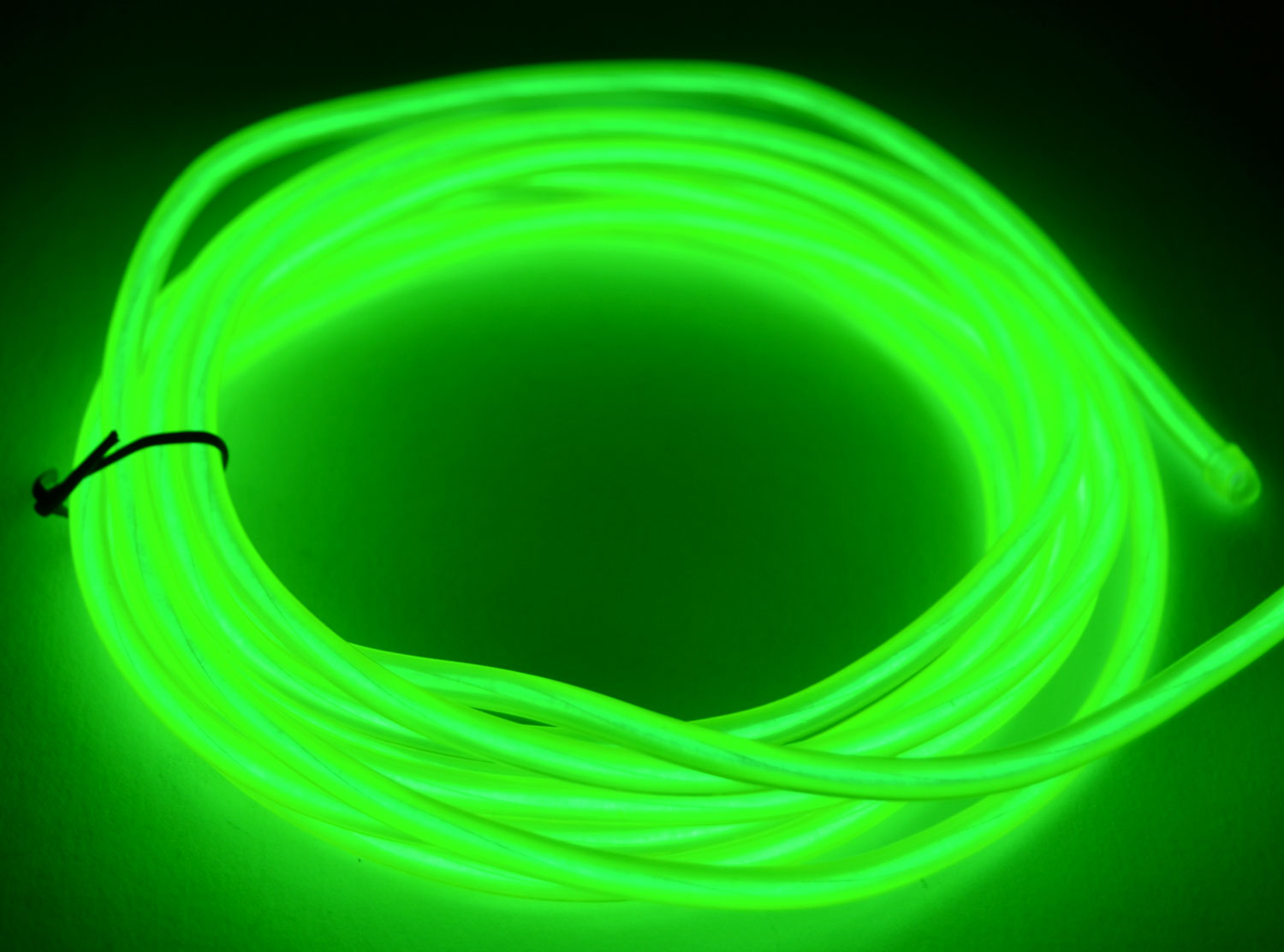 Glowcity ft battery powered mm light up el wire kit lime green