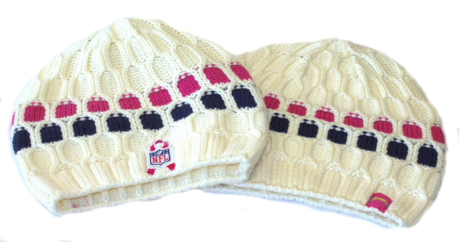 c9883282733 NFL Licensed San Diego Chargers Womens Onfield Cable Knit Beanie Hat Cap  Lid Toque