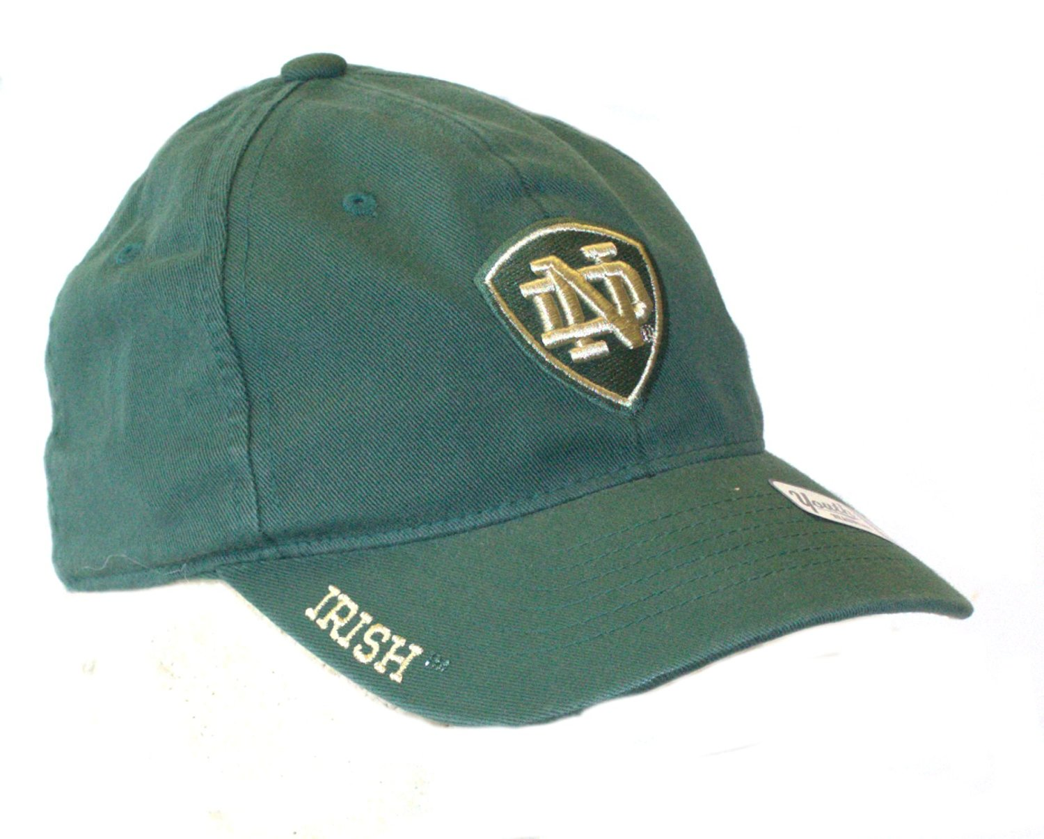 4be8648e022e6 Notre Dame YOUTH Green Stretch Fit Hat Cap Lid 683258931267