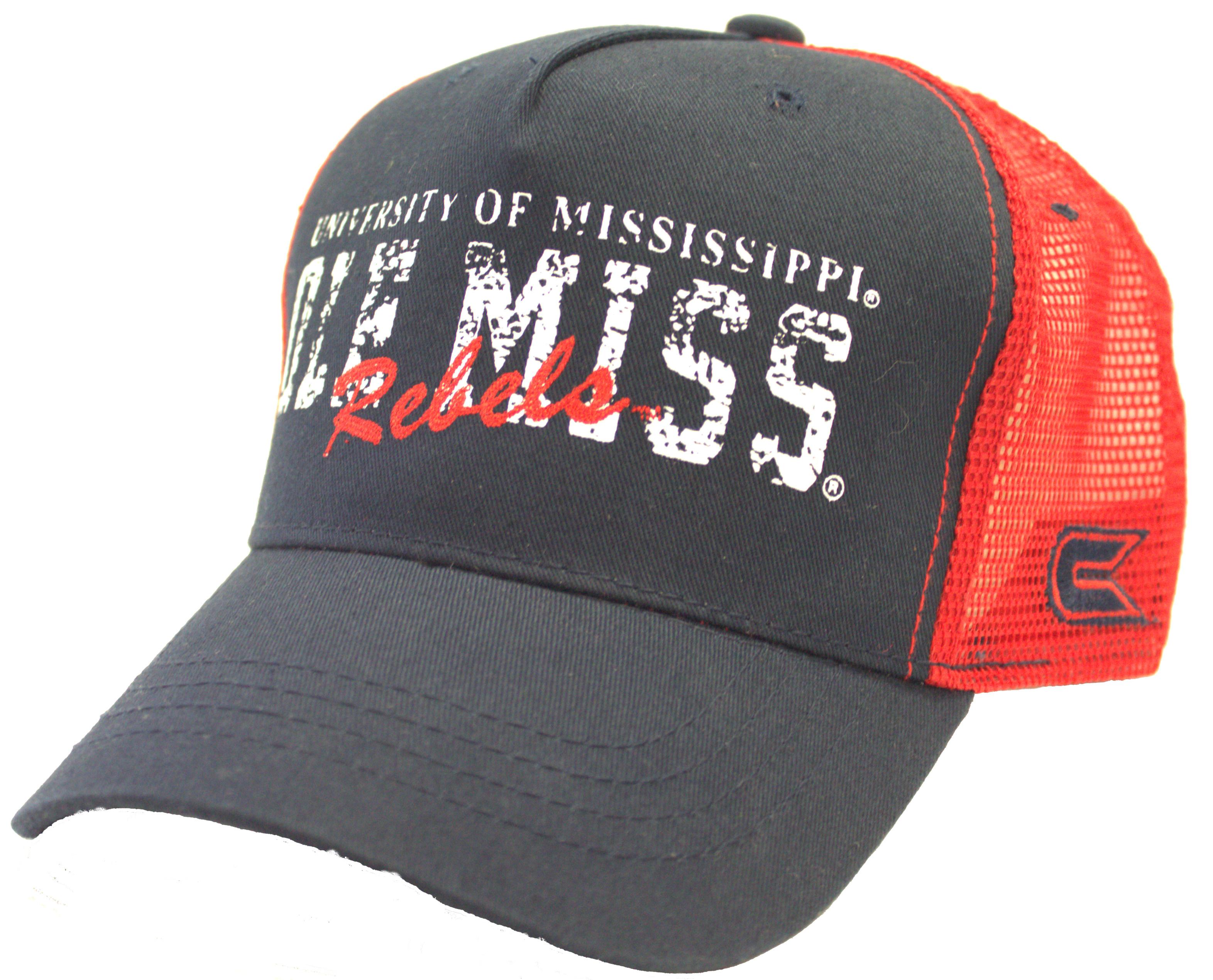 c67640b60dc1f Ole Miss Rebels Trucker style Adjustable Hat 687927649484