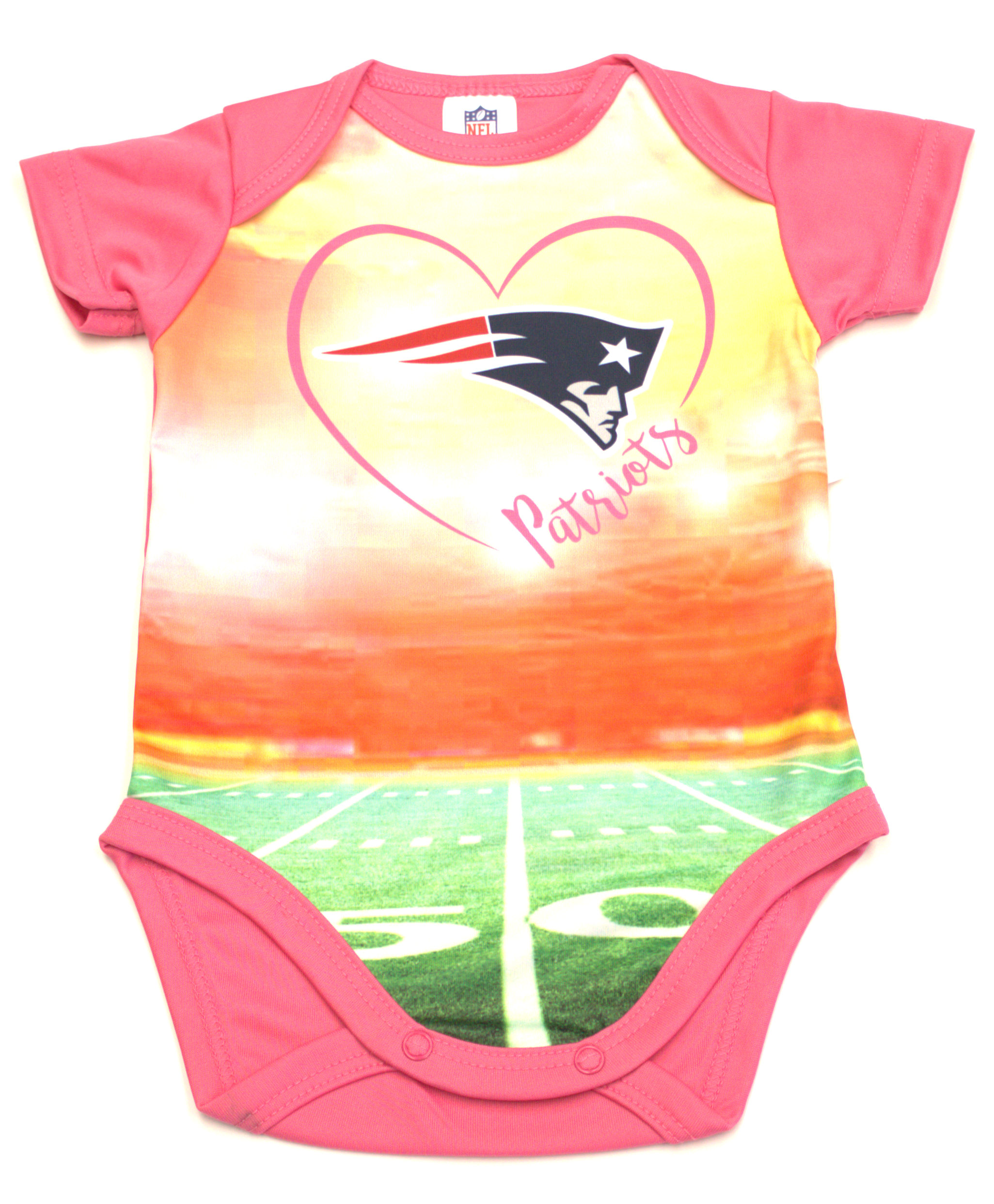 New England Patriots Girls Infant Field Bodysuit  1f782a8a8