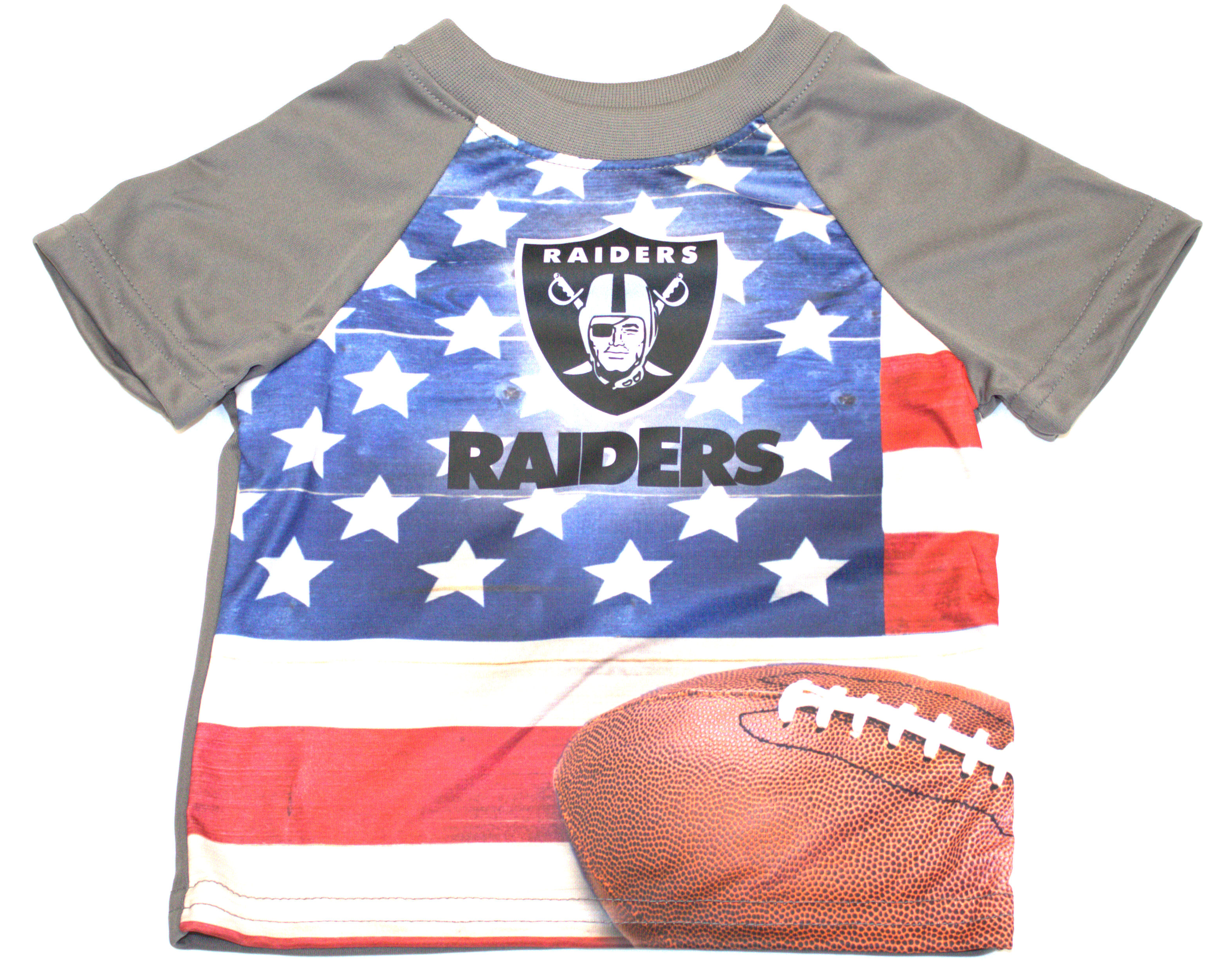 Oakland Raiders Infant USA Flag T-Shirt