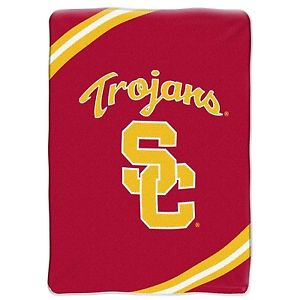 NCAA Officially Licensed Plush 64  x 86  Fleece Throw Blanket (USC Trojans)