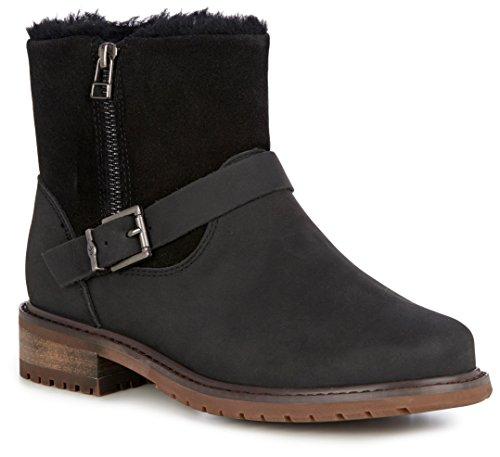 EMU Women's Roadside Waterproof Ankle Boot,Black Leather,US 9 M