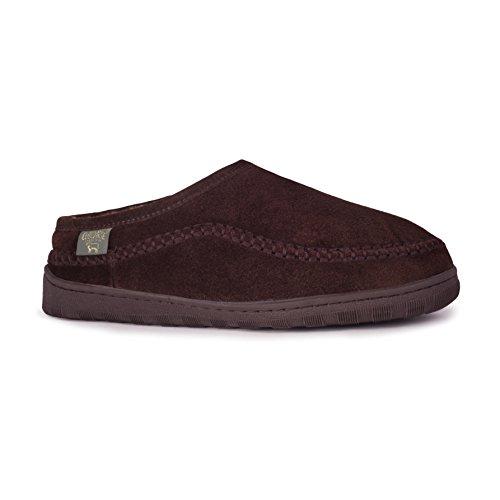 Pantofole da uomo RJ's Fuzzies uomos Sheepskin Leather Lined Pacific Slides Sandals