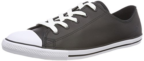 Converse Women's Dainty Canvas Low Top Shoe, black, 10 M US