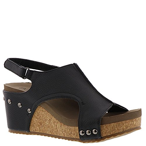 4fcb4fdba73 Corkys London Women s Sandal Cork-Look Wedge with Cushioned Footbed Fashion  Wedge Sandal