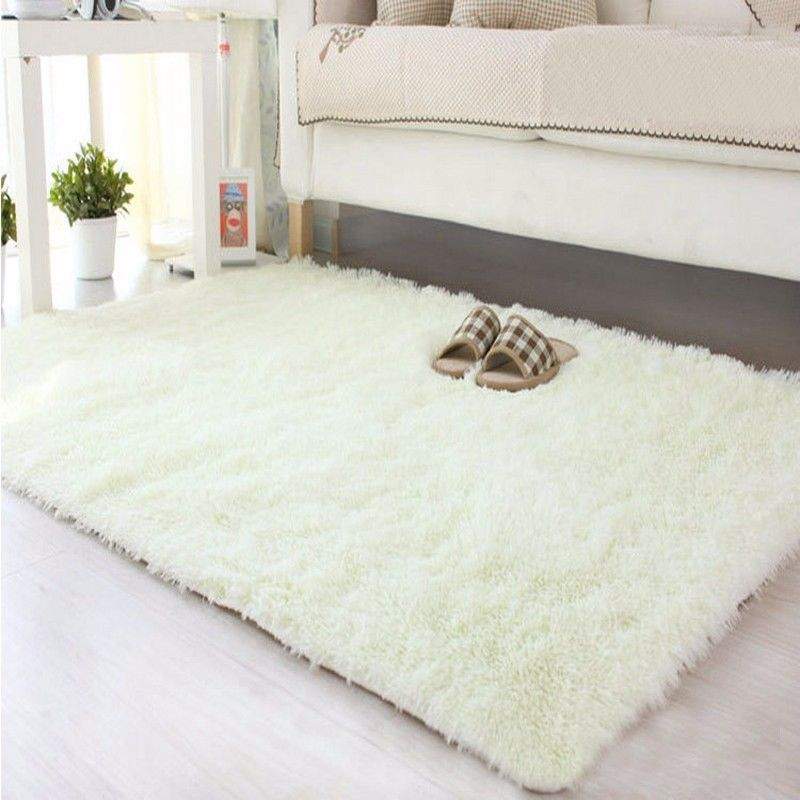 Solid Fluffy Rugs Anti Skid Shaggy Area Rug  Part 89