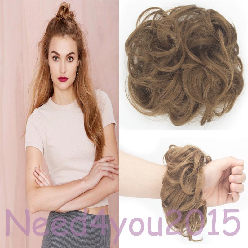 Best Short Womens Synthetic Hair Bun Chignon Clips In Hair