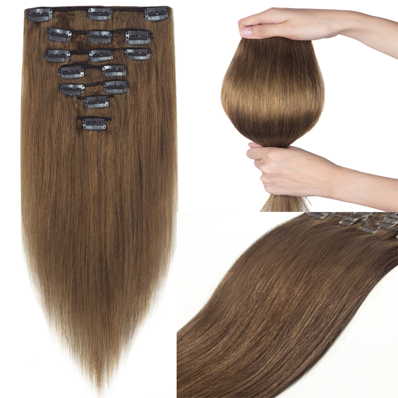 Special Offer Thicken Clip In Real Remy Human Hair Extension Full