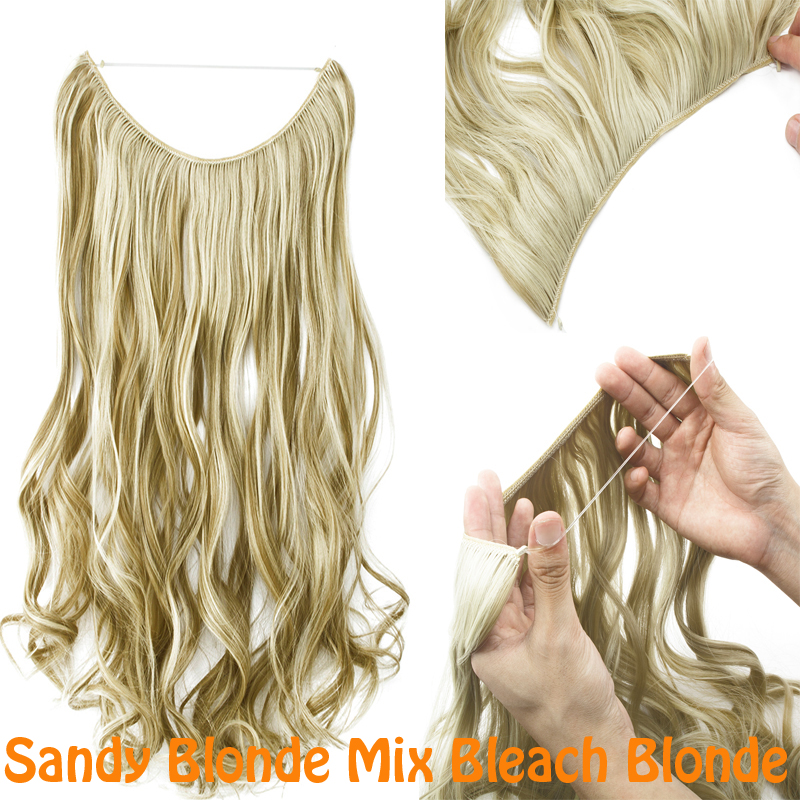 Straight Hair Extensions No Clips Invisible Wire Hair Pieces Secret