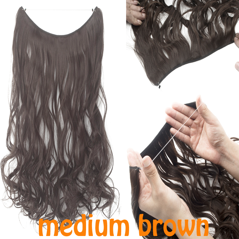 Best Hidden Invisible Wire Hair Piece Secret Miracle Straight in ...