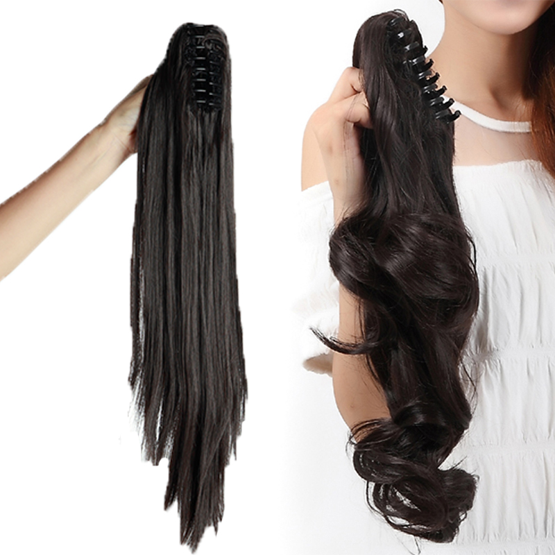100 As Remy Human Hair Clip In Claw Jaw Ponytail Extensions Clip On