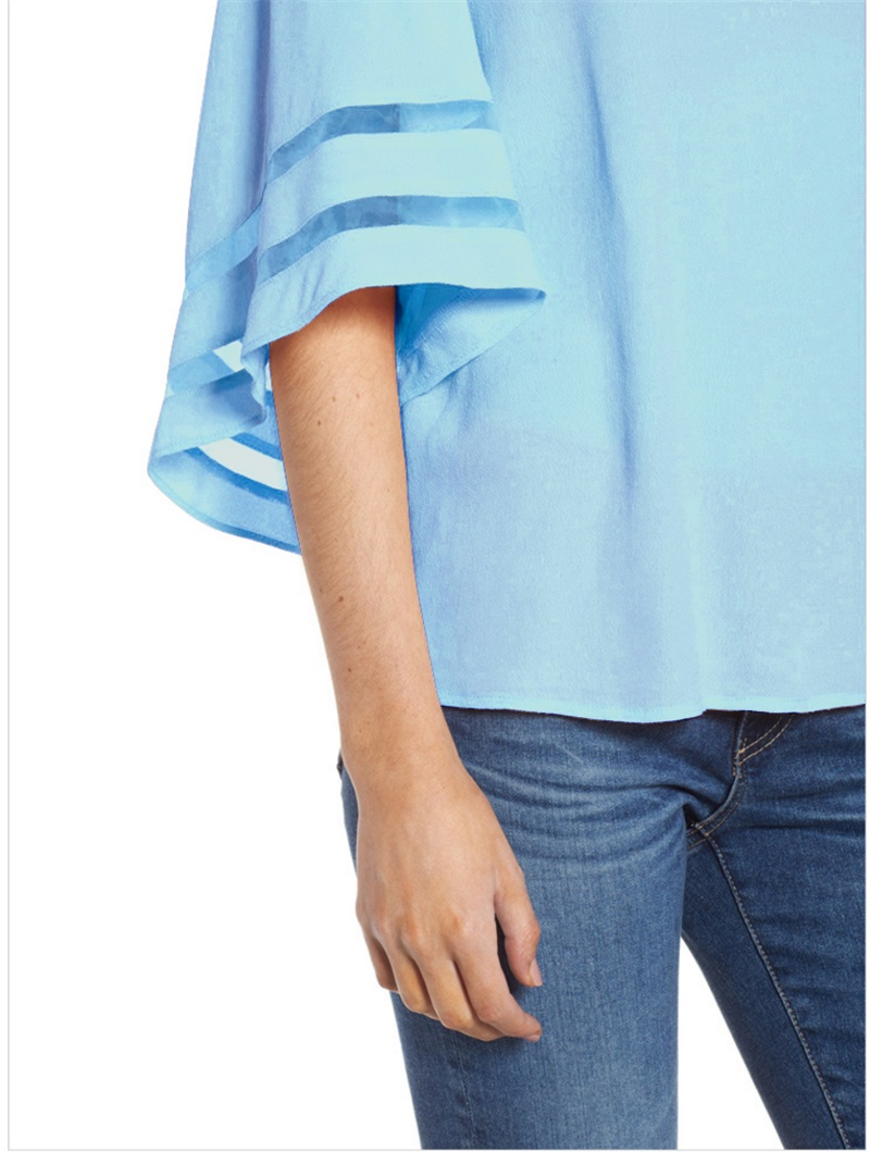 Women-Summer-Blouse-Top-Short-Sleeve-Ladies-Casual-Striped-Cold-Shoulder-T-Shirt thumbnail 13