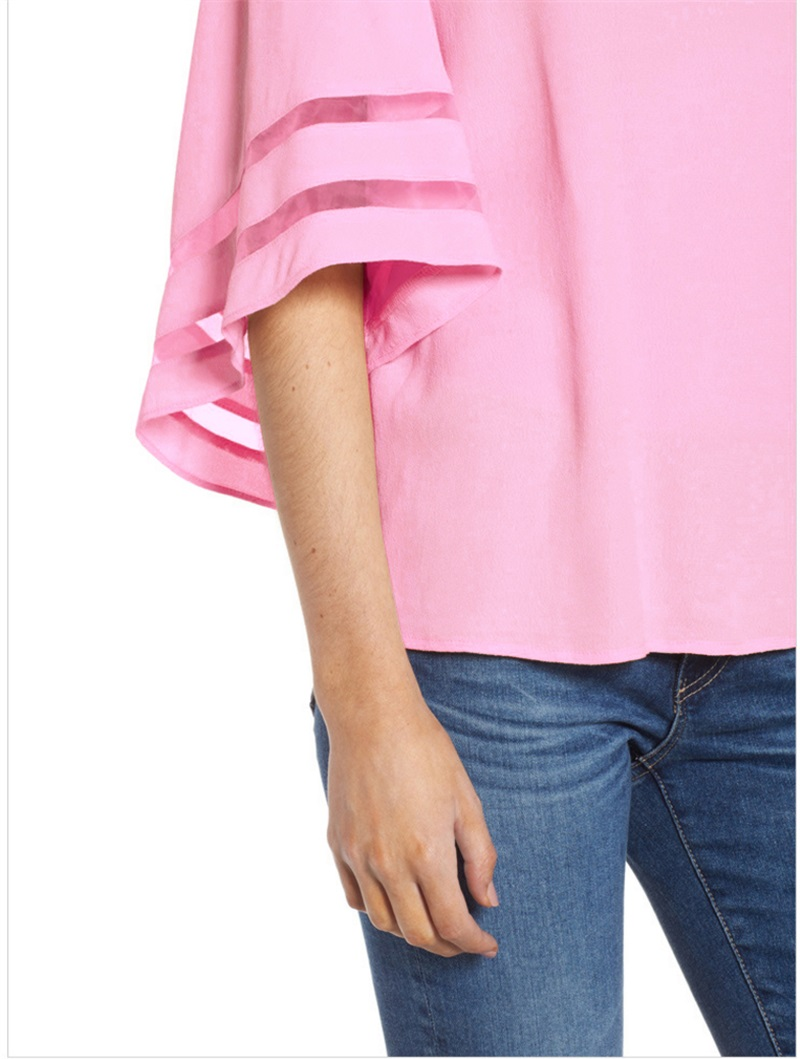 Women-Summer-Blouse-Top-Short-Sleeve-Ladies-Casual-Striped-Cold-Shoulder-T-Shirt thumbnail 18