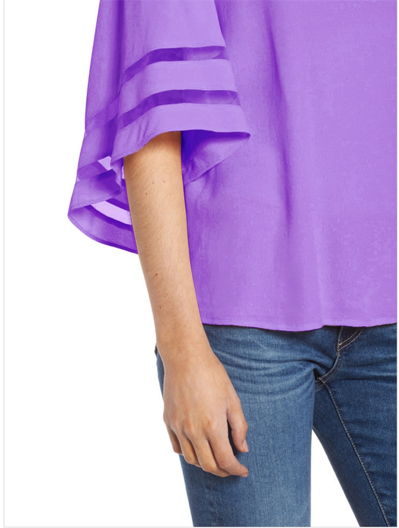 Women-Summer-Blouse-Top-Short-Sleeve-Ladies-Casual-Striped-Cold-Shoulder-T-Shirt thumbnail 22