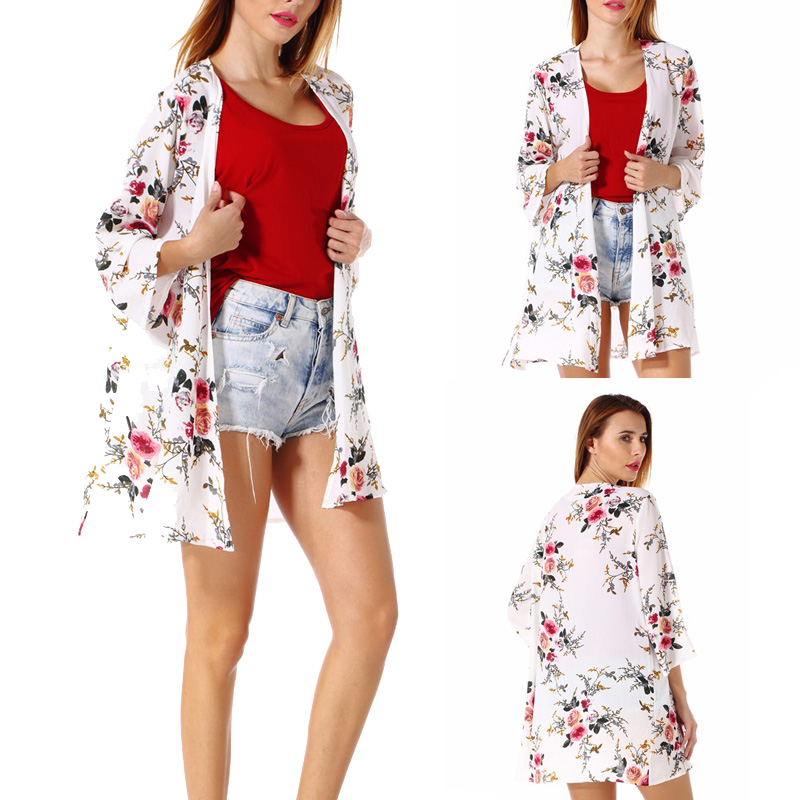 Fashion-Women-Loose-Blouse-Kimono-Cardigan-Tops-Summer-Bikini-Cover-Up-Wrap-Coat thumbnail 27