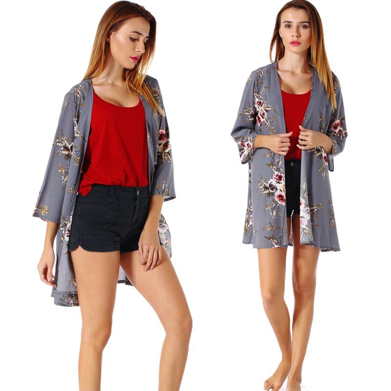 Fashion-Women-Loose-Blouse-Kimono-Cardigan-Tops-Summer-Bikini-Cover-Up-Wrap-Coat thumbnail 22