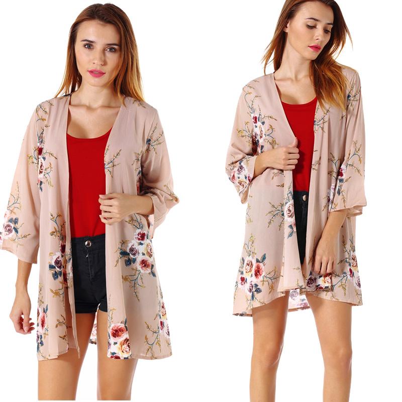 Fashion-Women-Loose-Blouse-Kimono-Cardigan-Tops-Summer-Bikini-Cover-Up-Wrap-Coat thumbnail 24