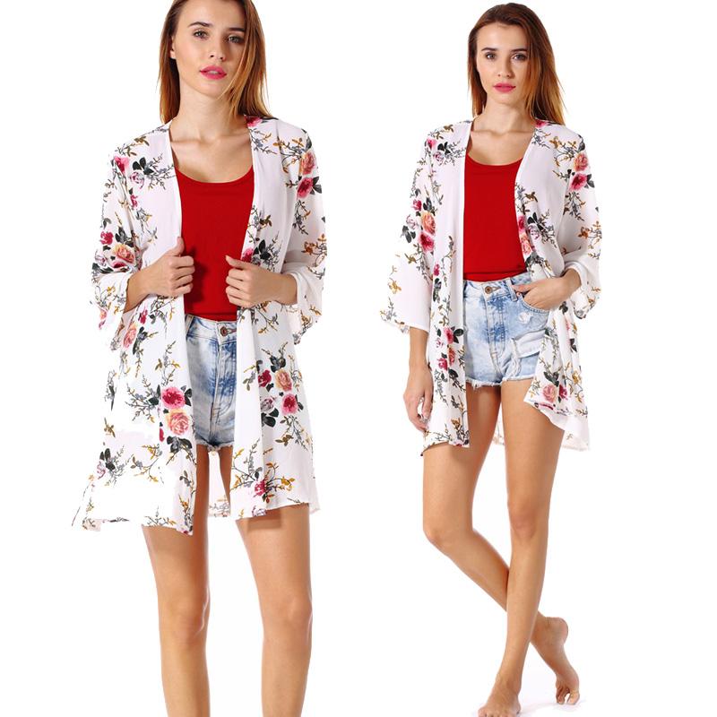 Fashion-Women-Loose-Blouse-Kimono-Cardigan-Tops-Summer-Bikini-Cover-Up-Wrap-Coat thumbnail 28