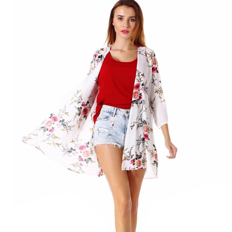 Fashion-Women-Loose-Blouse-Kimono-Cardigan-Tops-Summer-Bikini-Cover-Up-Wrap-Coat thumbnail 29