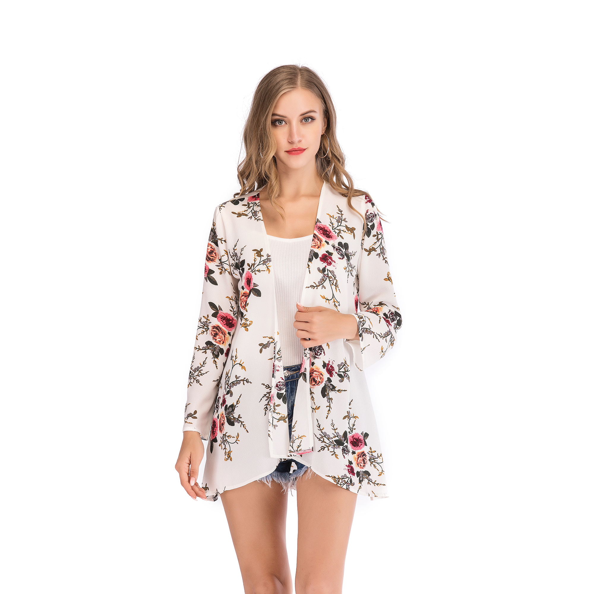 Fashion-Women-Loose-Blouse-Kimono-Cardigan-Tops-Summer-Bikini-Cover-Up-Wrap-Coat thumbnail 31