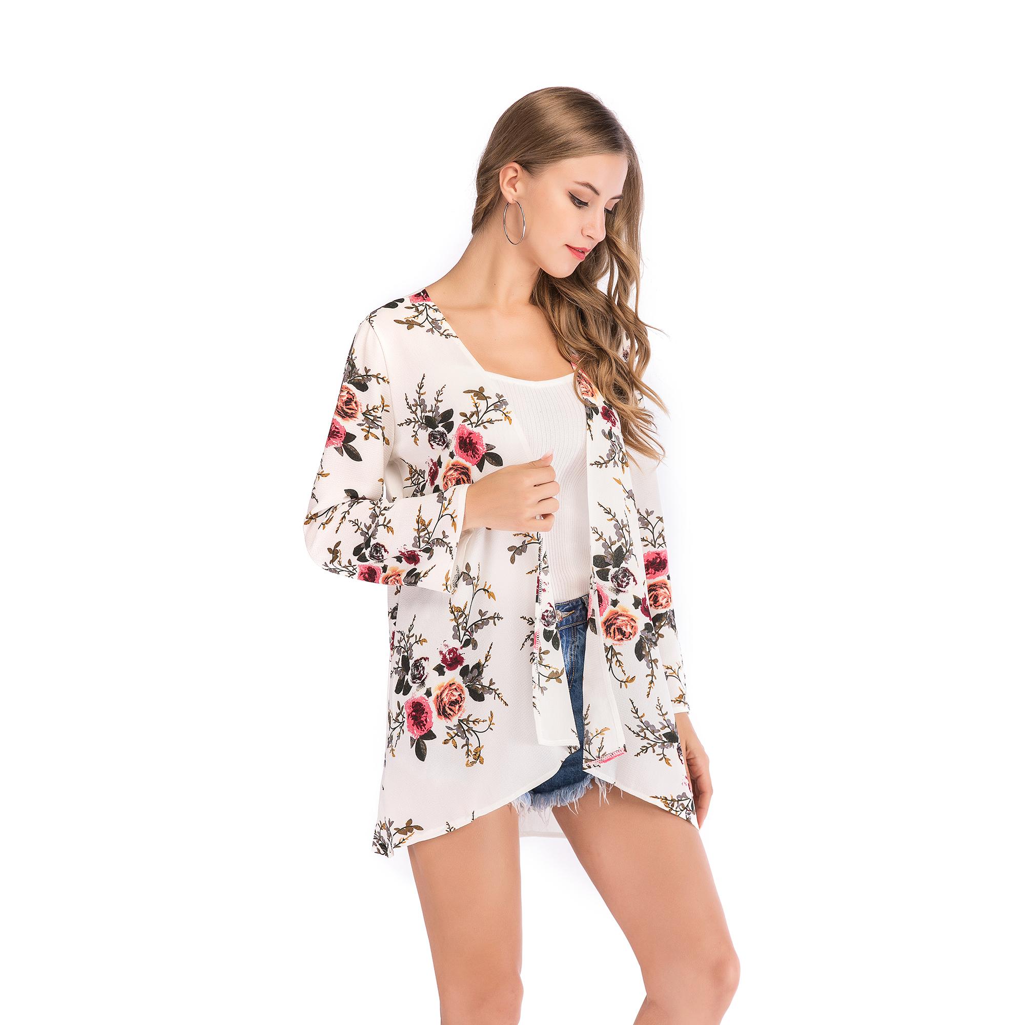Fashion-Women-Loose-Blouse-Kimono-Cardigan-Tops-Summer-Bikini-Cover-Up-Wrap-Coat thumbnail 32