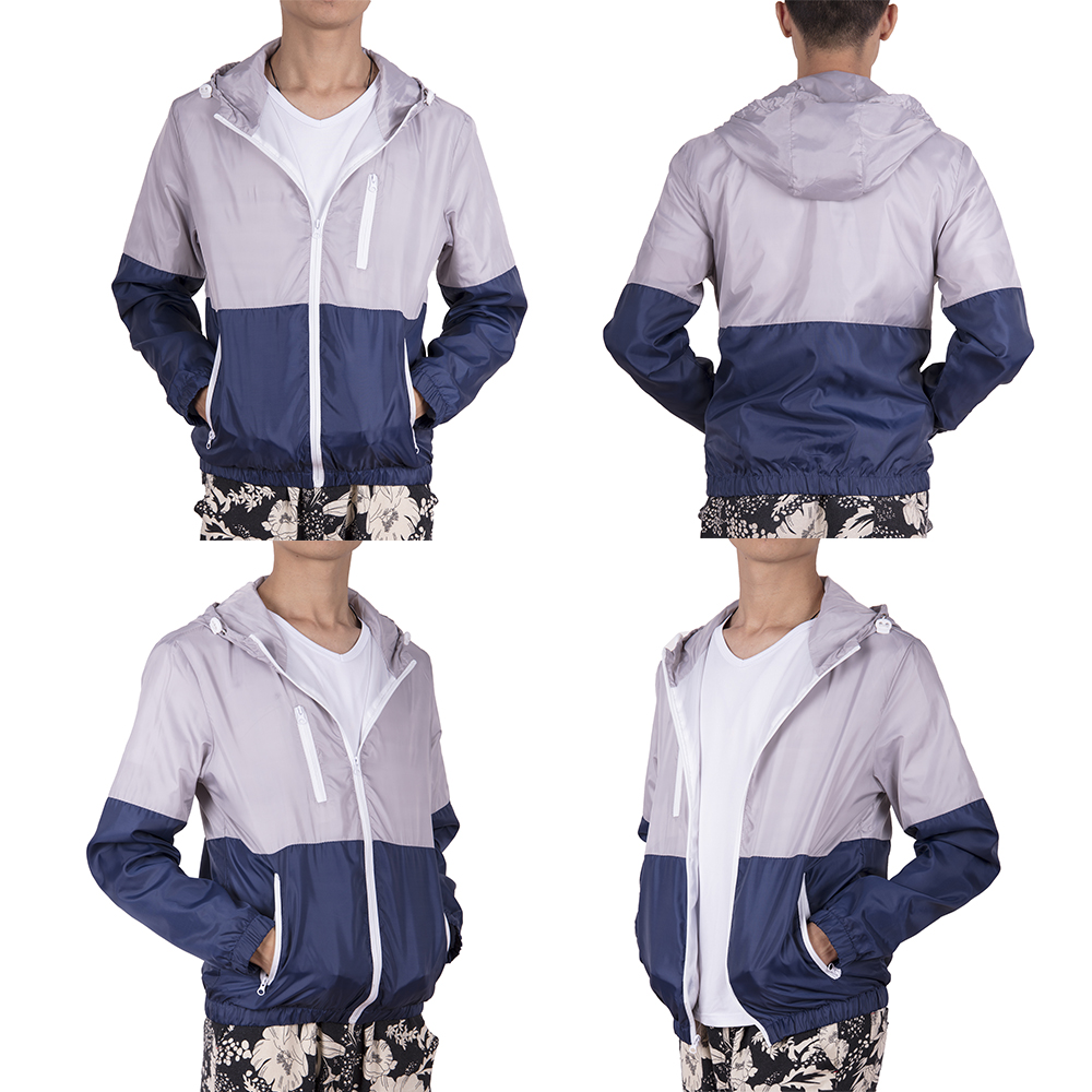Men-Waterproof-Windbreaker-Zipper-Jacket-hoodie-Light-Sports-Outwear-Coat-Gym-NK thumbnail 15