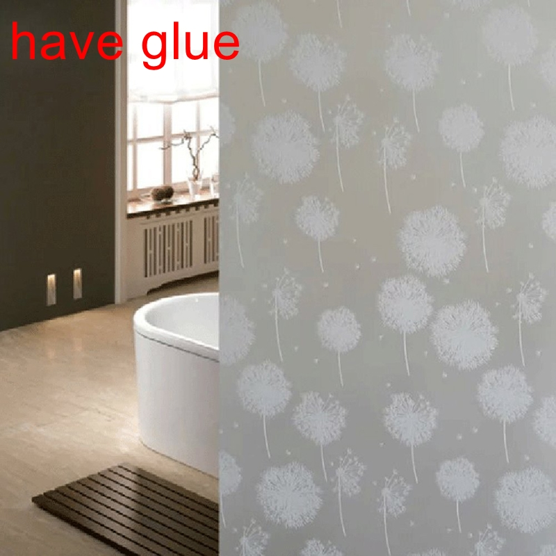 waterproof glass frosted bathroom window privacy self adhesive film sticker lgc ebay. Black Bedroom Furniture Sets. Home Design Ideas