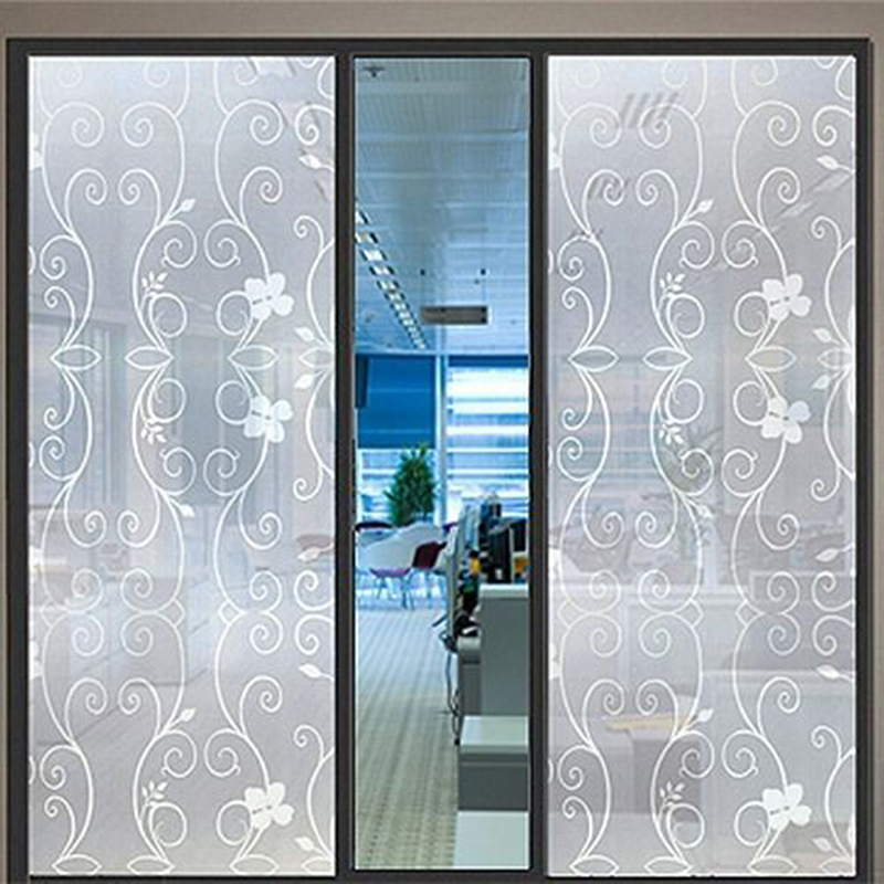 Waterproof Glass Frosted Bathroom Window Decal Self Adhesive Film