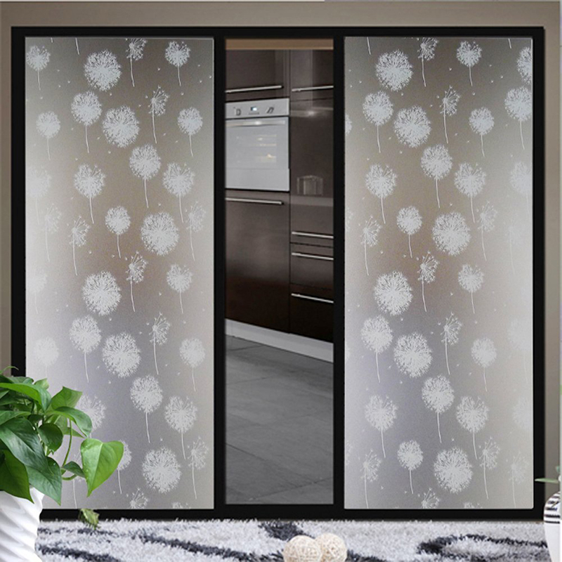 Waterproof glass frosted bathroom window decal self for Opaque glass for bathroom windows