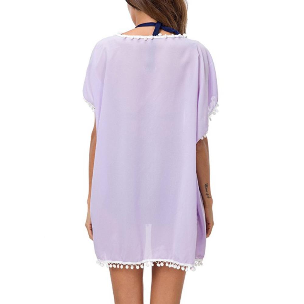 Womens-Beachwear-Cardigan-Tassel-Bikini-Cover-Up-Dress-Kaftan-Sarong-Beach-Dress thumbnail 14