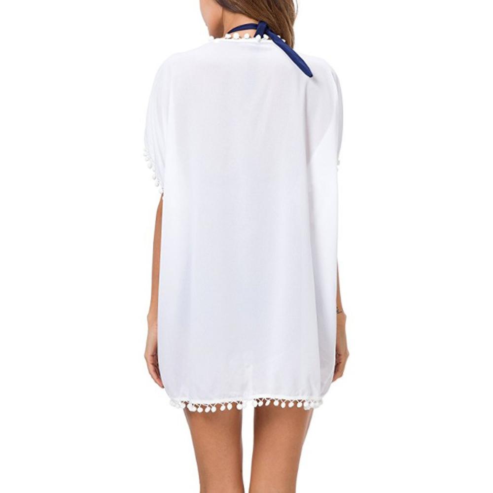 Womens-Beachwear-Cardigan-Tassel-Bikini-Cover-Up-Dress-Kaftan-Sarong-Beach-Dress thumbnail 18