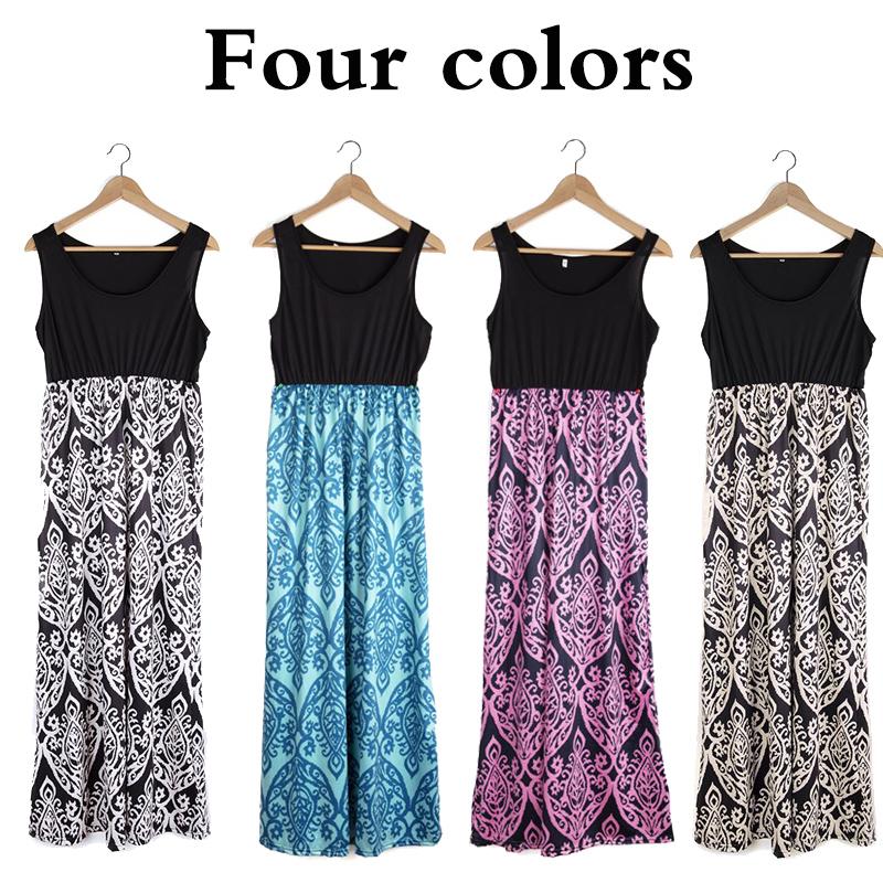 Women-039-s-Floral-Maxi-Dress-Hawaii-Evening-Party-Summer-Beach-Casual-Long-Sundress thumbnail 3