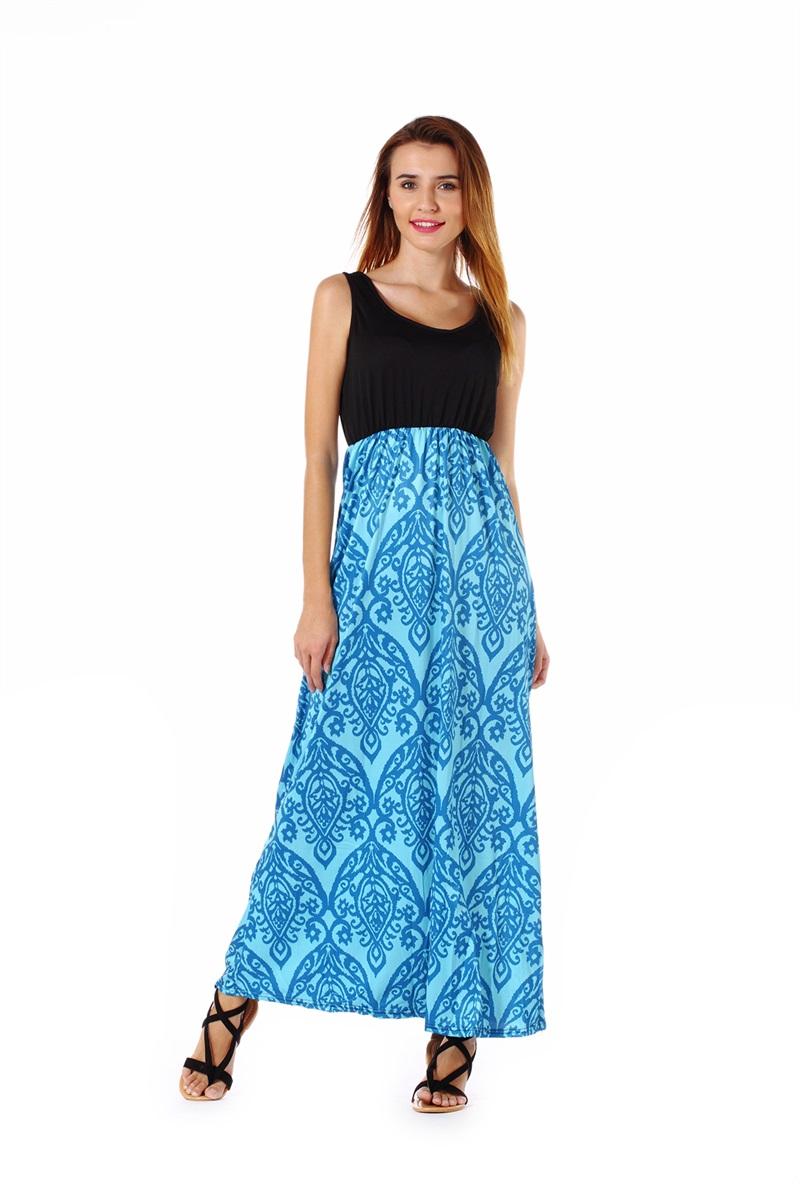 Women-039-s-Floral-Maxi-Dress-Hawaii-Evening-Party-Summer-Beach-Casual-Long-Sundress thumbnail 4