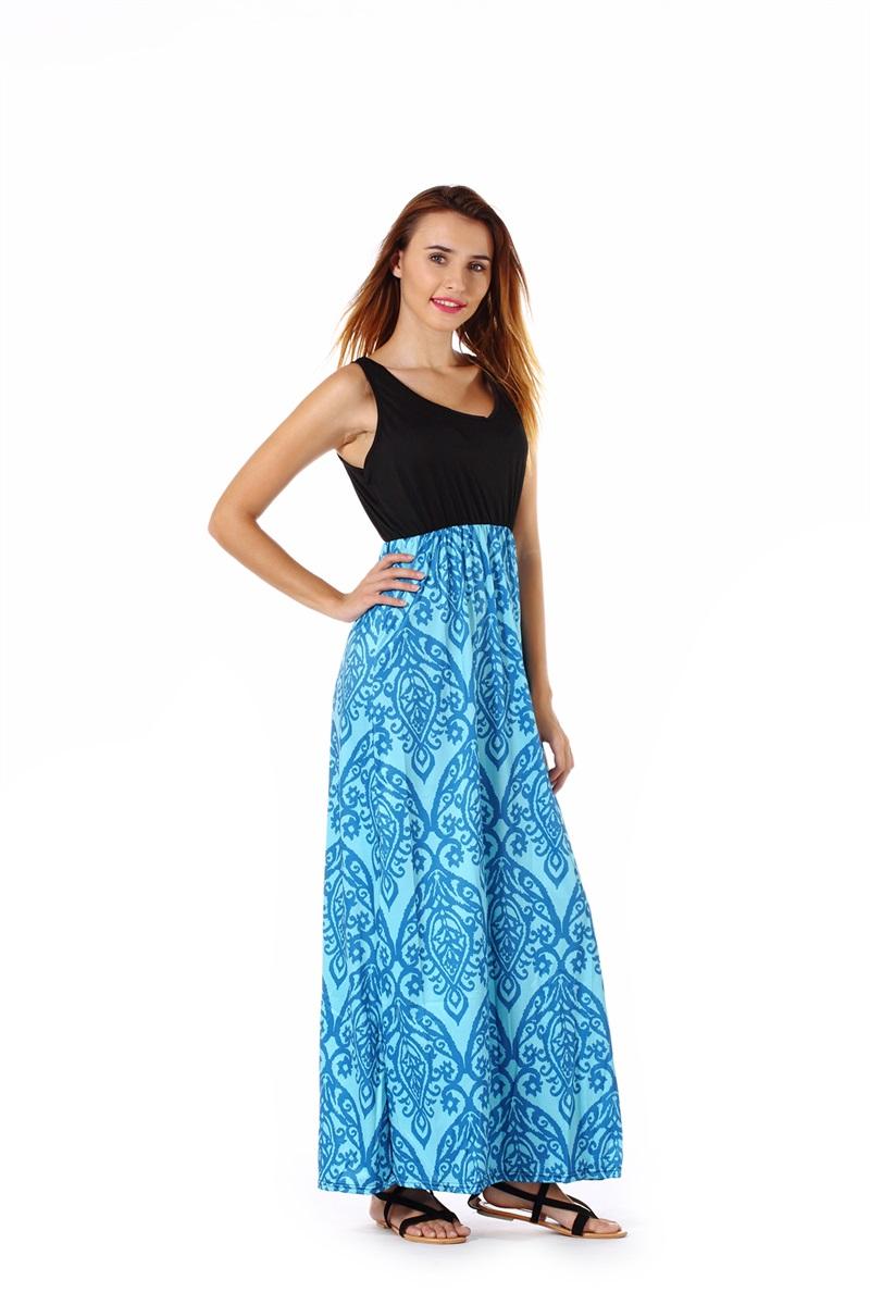 Women-039-s-Floral-Maxi-Dress-Hawaii-Evening-Party-Summer-Beach-Casual-Long-Sundress thumbnail 5