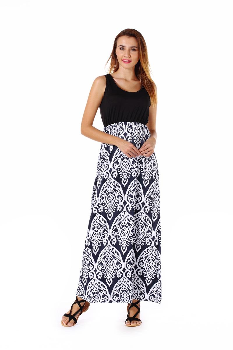 Women-039-s-Floral-Maxi-Dress-Hawaii-Evening-Party-Summer-Beach-Casual-Long-Sundress thumbnail 6