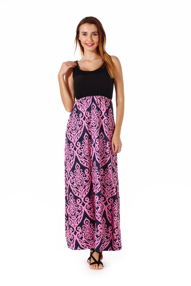 Women-039-s-Floral-Maxi-Dress-Hawaii-Evening-Party-Summer-Beach-Casual-Long-Sundress thumbnail 8