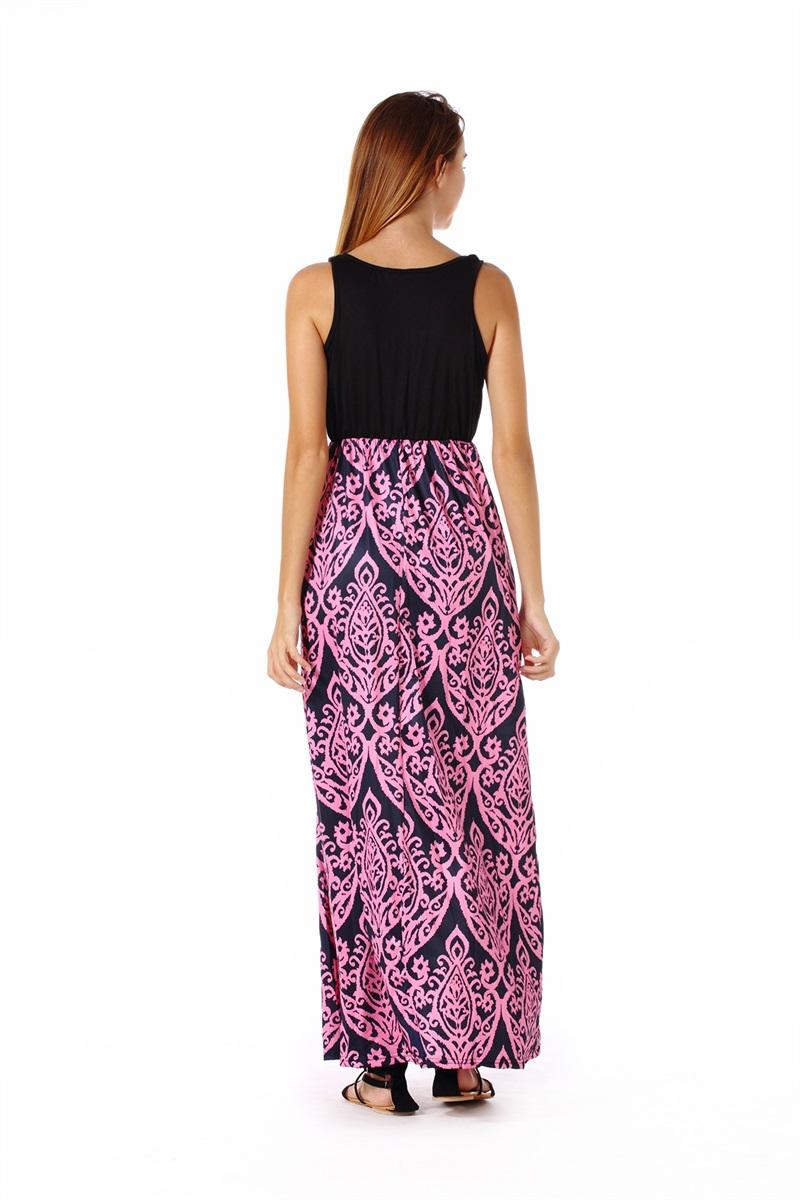 Women-039-s-Floral-Maxi-Dress-Hawaii-Evening-Party-Summer-Beach-Casual-Long-Sundress thumbnail 9