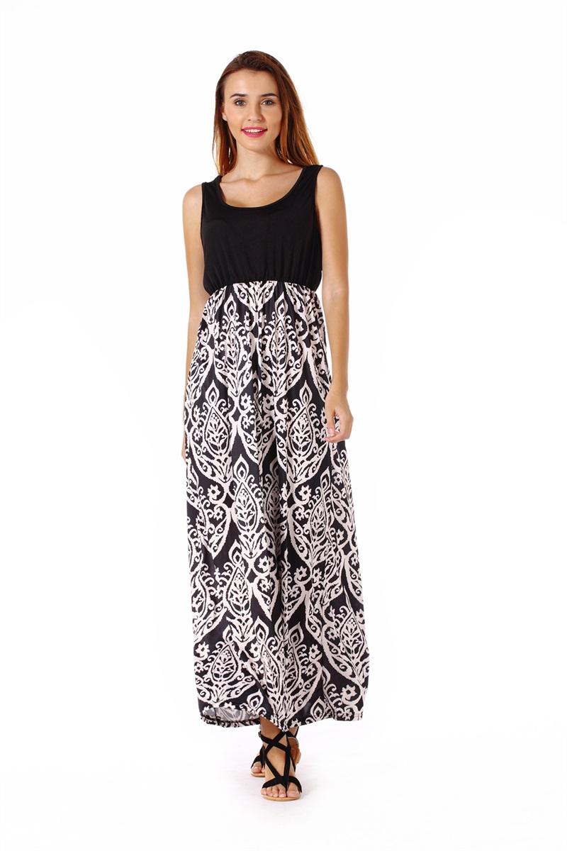 Women-039-s-Floral-Maxi-Dress-Hawaii-Evening-Party-Summer-Beach-Casual-Long-Sundress thumbnail 10