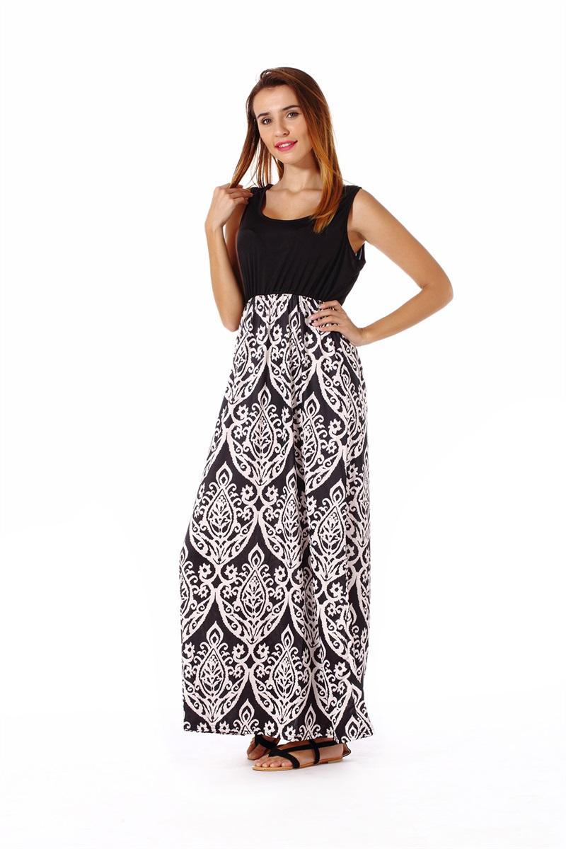Women-039-s-Floral-Maxi-Dress-Hawaii-Evening-Party-Summer-Beach-Casual-Long-Sundress thumbnail 11