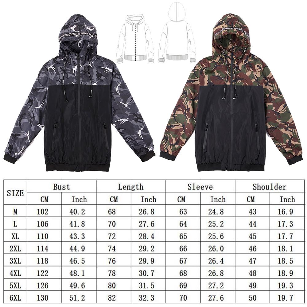 Men Outwear Coat Windbreaker Waterproof Jacket Hoodie Light Sports Oversized